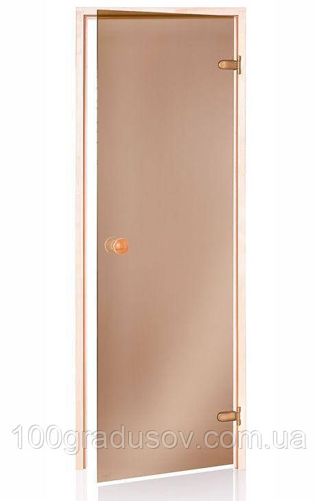 Двери для парилки Beltep (бронза 80х210)