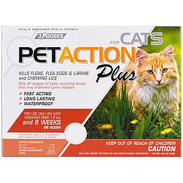 PetAction Plus, Для кошек, 3 дозы по 0,51 мл