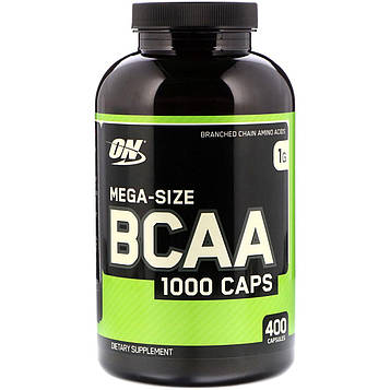 Optimum Nutrition, BCAA 1000 Caps, мега упаковка, 1 г, 400 капсул