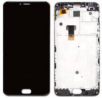 Дисплей (экран) для телефона Meizu M3 Note L681H + Touchscreen with frame (copy) Black