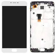 Дисплей (экран) для телефона Meizu M3 Note L681H + Touchscreen with frame (copy) White