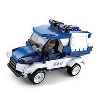 """Конструктор SLUBAN M38-B0760A """"Police"""": броньований автомобіль поліції, фігурка, 116 дет."""