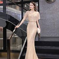 Вечернее Выпускное платье. Вечірня сукня. Вечернее платье ручной работы Роскошное золотое