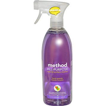 Method, Натуральное средство для чистки любых поверхностей, французская лаванда, 28 жидких унций (828 мл)