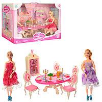 Меблі 598-1 їдальня, столик, стільці, лялька-шарнірна 2 шт., посуд, кор., 45-30-22,5 см.