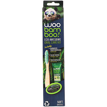 Woobamboo, Набор для ухода за ротовой полостью Eco-Awesome, 1набор