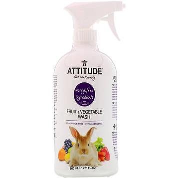ATTITUDE, Моющее средство для фруктов и овощей, 27,1 жидких унций (800 мл)