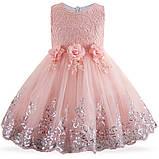 Очень красивое платье Персиковое на рост 110-120 см, фото 2