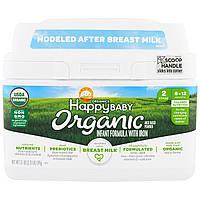 Happy Family Organics, Organics Happy Baby, формула для грудных детей, этап 2, 6-12 месяцев, 21 унция 595 г