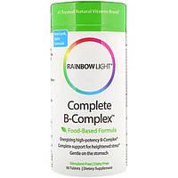 Rainbow Light, Полный комплекс витаминов B, формула на основе продуктов питания, 90 таблеток, официальный сайт