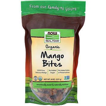 Now Foods, Real Foods, органические снеки из манго, 227г