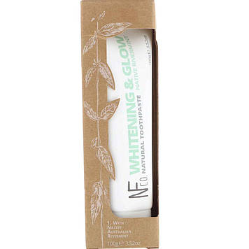 The Natural Family Co., Whitening & Glow Natural Toothpaste, Native Rivermint, 3.52 oz (100 g)