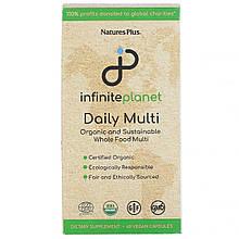 Nature's Plus, Infinite Planet, ежедневные витамины, 60 веганских капсул
