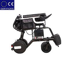 Алюминиевая легкая складная электроколяска для инвалидов D-6030 (10Ач), фото 2