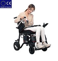 Алюминиевая легкая складная электроколяска для инвалидов D-6030 (10Ач), фото 3