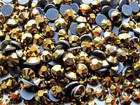 Стразы DMC ss30 Gold Hematite (6,4-6,6мм)горячей фиксации. 50gross/7.200шт.