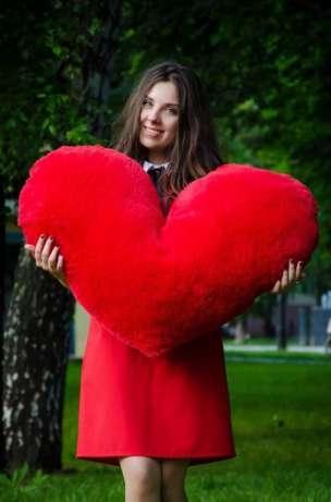 Мягкая игрушка подушка сердце 30 см 100 см