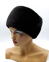 """Меховая шапка кубанка """"Долли"""" черная."""
