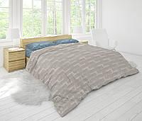 Еврокомплект постельного белья HalfTones, евро набор из ранфорса, хлопок,на молнии, пододеяльник 200*220см