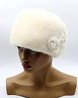 "Норковая шапка кубанка ""Долли"" белая."