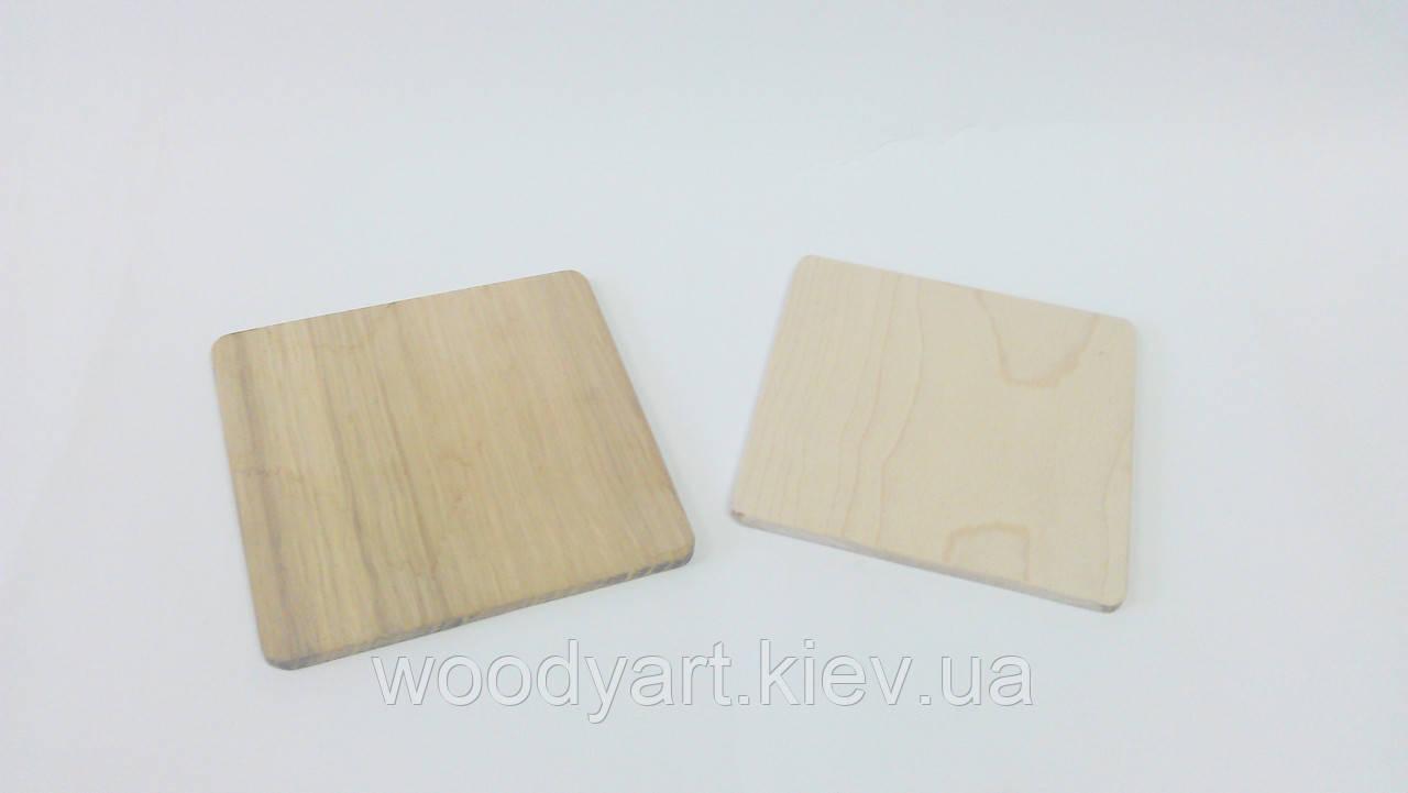 Костеры деревянные, квадратные (4 мм) - WoodyArt, ЧП в Киеве