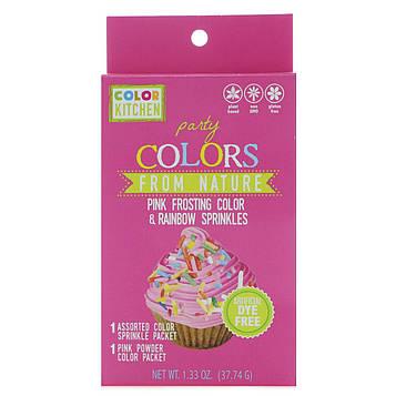 ColorKitchen, Вечеринка, природные цвета, розовый цвет глазури и радужные брызги, 37,74 г