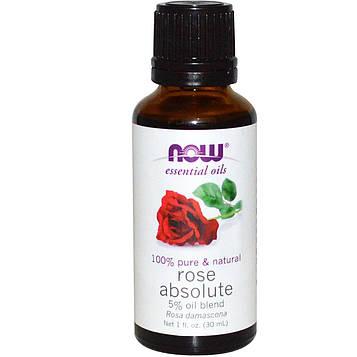 Now Foods, Эфирные масла, абсолютное масло розы, 30мл