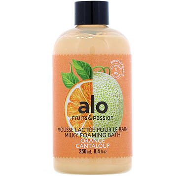 Fruits & Passion, ALO, Milky Foaming Bath, Orange Cantaloup, 8.4 fl oz (250 ml)