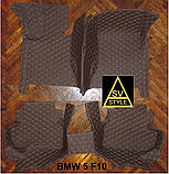 Коврики на BMW 5 series F10 Кожаные 3D (2009-2017), фото 2