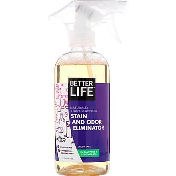 Better Life, Чистящее средство от пятен и запаха, эвкалипт и лемонграсс, 16 жидких унций (473 мл)