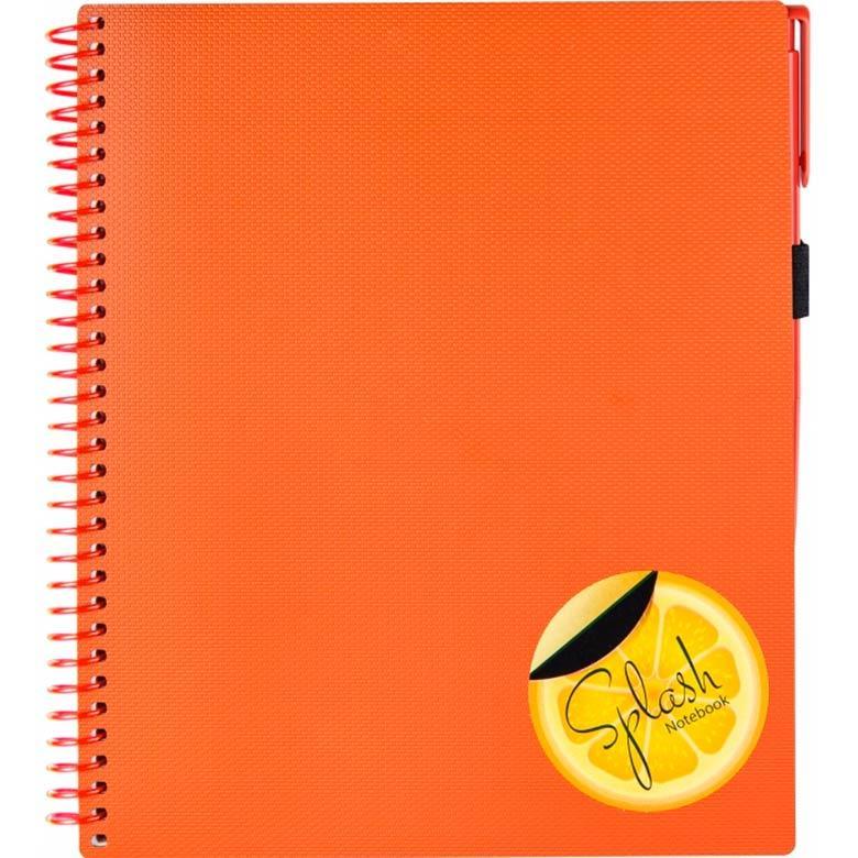 Блокнот для записей 175*206мм Optima Splash с ручкой N20840_Оранжевый