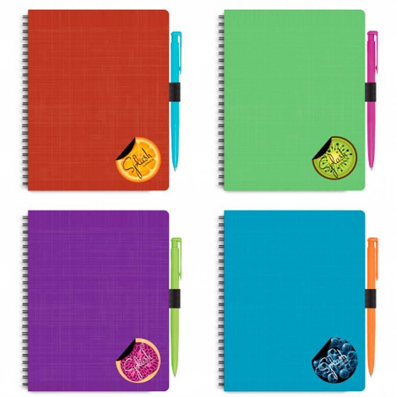 Блокнот для записей 175*206мм Optima Splash с ручкой N20840