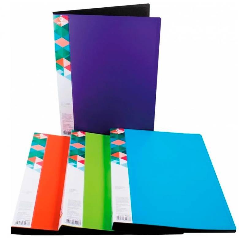 Папка с 10 файлами А4 Optima двухцветная в ассорт. O32117