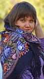 Ненаглядна 1025-14, павлопосадская шаль з ущільненої вовни з шовковою бахромою в'язаної, фото 2