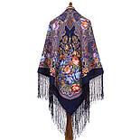Ненаглядна 1025-14, павлопосадская шаль з ущільненої вовни з шовковою бахромою в'язаної, фото 9