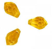 Бусины капля медовые  6*12 мм (100 шт) с огранкой