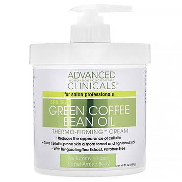Advanced Clinicals, Масло необжаренных кофейных зерен, термоукрепляющий крем, 16 унций (454 г)