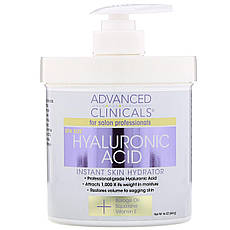 Advanced Clinicals, Hyaluronic Acid, Instant Skin Hydrator, 16 oz 454 g, офіційний сайт