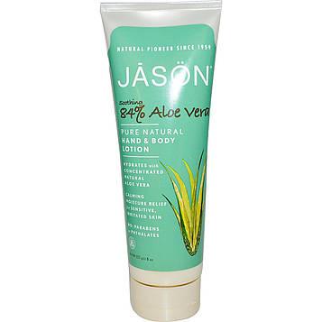 Jason Natural, Чистый натуральный лосьон для рук и тела, 84% успокаивающая алоэ вера, 8 унций (227 г)