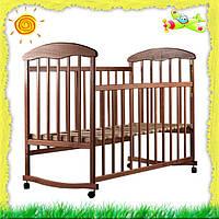 Кроватка детская Наталка из натурального дерева Ясень
