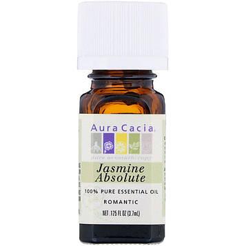 Aura Cacia, 100% чистое эфирное масло жасмина, 0.125 жидкой унции (3.7 мл)