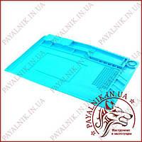 Силиконовый коврик для пайки 45х30 см S-160, термостойкий мат, термоковрик с магнитными ячейками