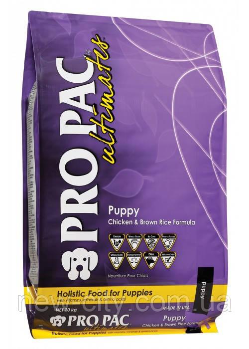 Pro Pac Dog Puppy Chicken & Brown Rice Formula для щенков от 2 месяцев (курица и рис) 20кг
