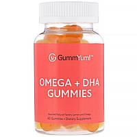 GummYum!, Omega + DHA Gummies, Assorted Natural Flavors, 60 Gummies