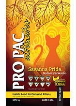 Pro Pac Cat Savanna Pride Indoor Formula беззерновой корм для котят и взрослых кошек (курица) 6кг