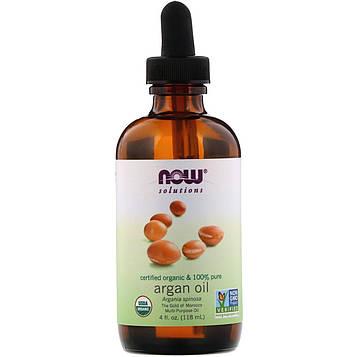 Now Foods, Solutions, Certified Organic & 100% Pure Argan Oil, 4 fl oz (118 ml)