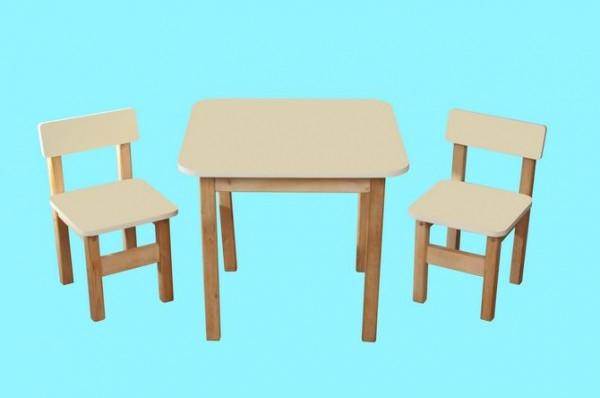 """Детский столик и два стульчика """"Финекс"""", ваниль"""