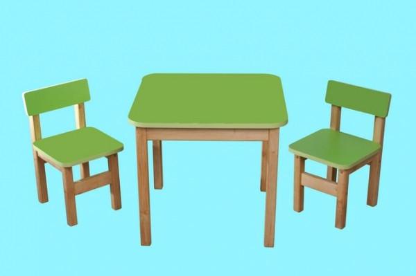"""Детский столик и два стульчика """"Финекс"""", цвет зеленый"""