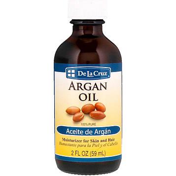De La Cruz, Аргановое масло, 100% чистое, 2 ж. унц. (59 мл)