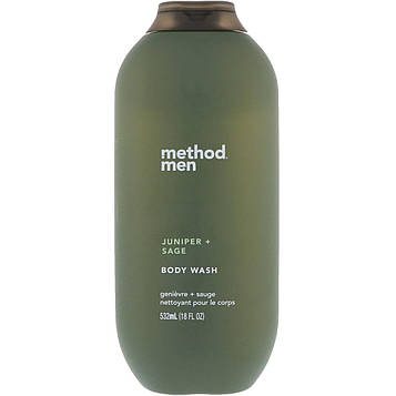 Method, Гель для душа для мужчин, можжевельник и шалфей, 18 ж. унц. (532 мл)